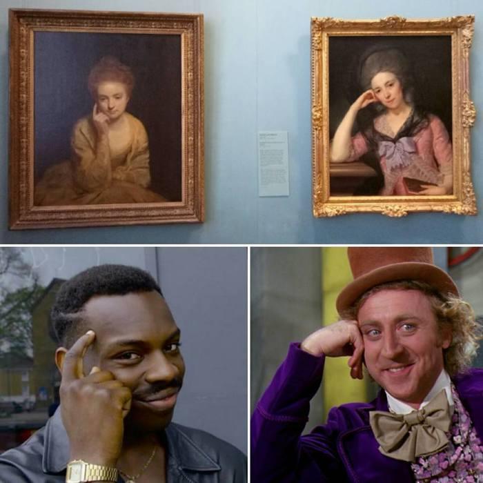 Даа, расскажи мне о том, что твои мемчики не баяны, а классика.. Think about it! Музей, Мемы, Совпадение