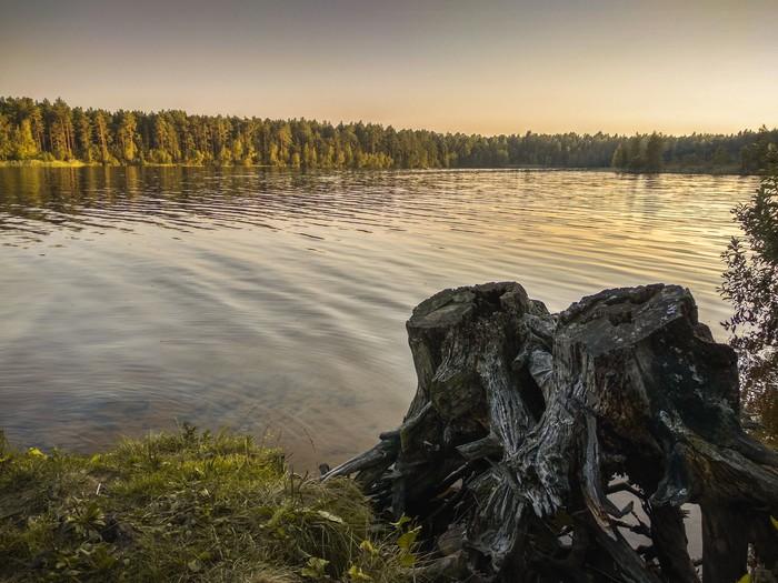 Горовалдайское озеро Озеро, Фотография, Вечер, Ленинградская область