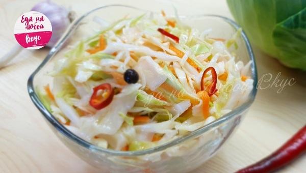 Вкусная капуста Капуста, Салат, Закуска, Вкусно, Рецепт, Еда, Видео, Маринование