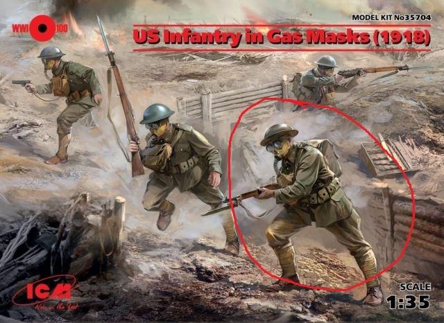 Фигурка американского пехотинца первой мировой Фигурка, Моделизм, Пехота, Первая мировая война, 1:35, Длиннопост