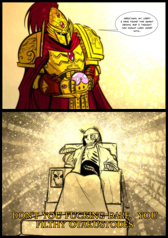 Чего только не найдёшь в Имматериуме. Crossover, Warhammer 40k, Wh art, Wh humor, Бог-Император, Супер корона, Марио, Bowsette, Длиннопост