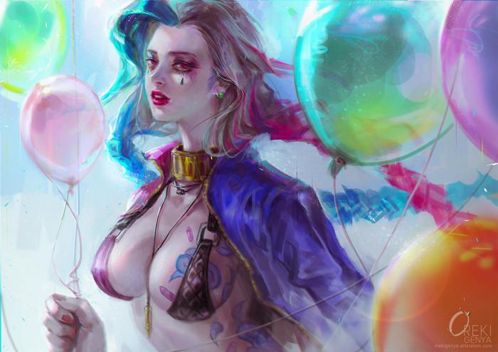 Art byOreki Genya Oreki Genya, Арт, Bowsette, Jinx, Кукла, Аниме, Bloodborne, Длиннопост