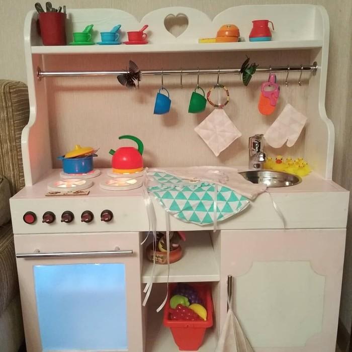 Детская кухня своими руками Детская кухня, Самоделка из дерева, Handmade, Светодиоды, Длиннопост