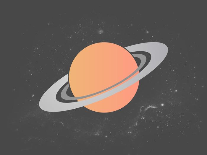 Космоса пост Космос, Солнце, Сатурн, Дизайн, Adobe Illustrator, Photoshop