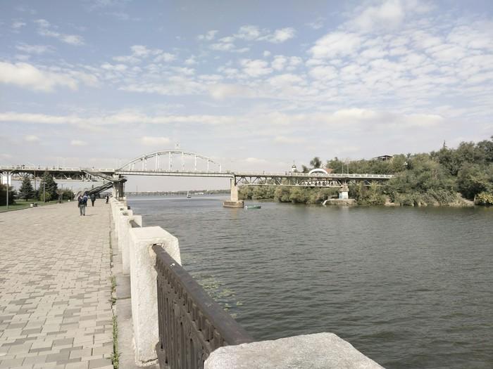 Набережная Днепра в одноимённом городе Фотография, Река, Набережная, Длиннопост, Украина