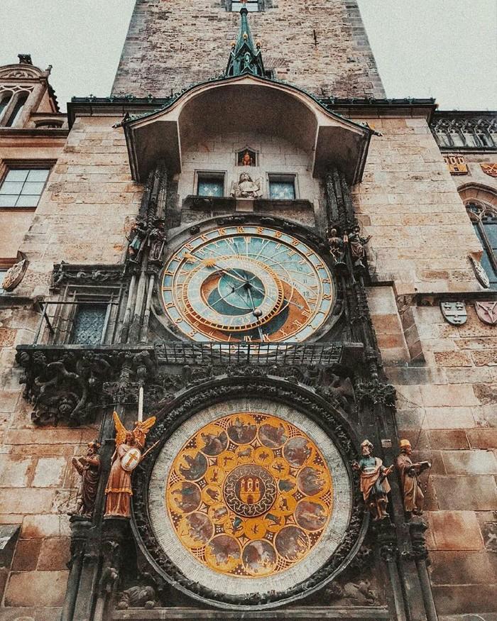 Астрономические часы в Праге, Чехия.