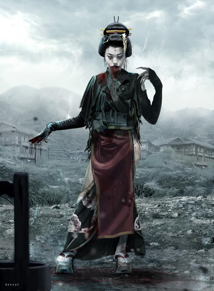 Dark Geisha Арт, David Benzal