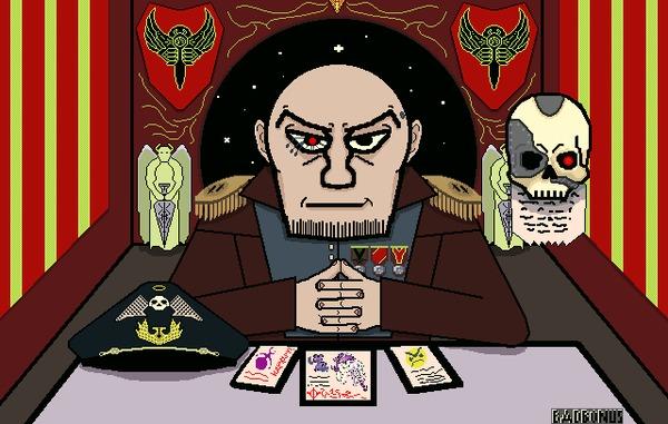 На допросе Warhammer 40k, Comrad-Comisar, Wh Art, Допрос, Гифка