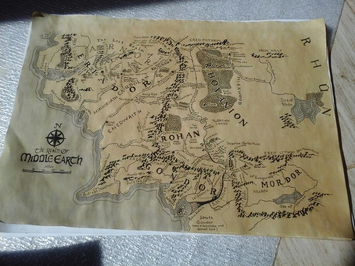 Пропала карта... Толкин, Толкиен, Властелин колец, Карты, Хоббит, SupportTech, Без рейтинга
