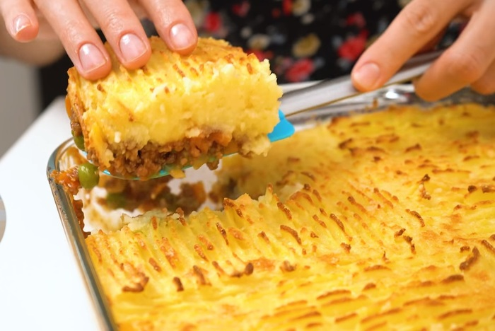 Пастуший пирог Видео рецепт, Фарш, Вторые блюда, Блюдо, Картофельное пюре, Видео, Длиннопост, Еда, Рецепт