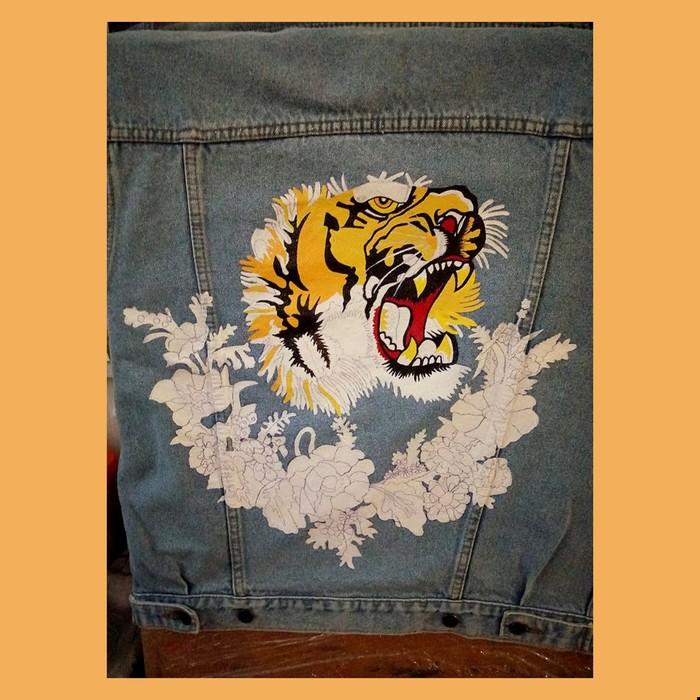 """Тигр """"Gucci Gang"""" Gucci, Тигр, Работа, Ручная работа, Роспись по ткани, Творчество, Искусство, Моё, Видео, Длиннопост"""