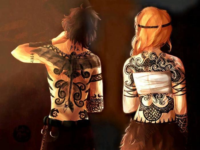 Tattooed Vikings Арт, Как приручить дракона, Иккинг, Астрид, Тату, Как приру, Длиннопост