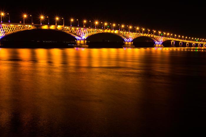 Саратовский мост Саратов, Мост, Волга, Фотография, Пейзаж