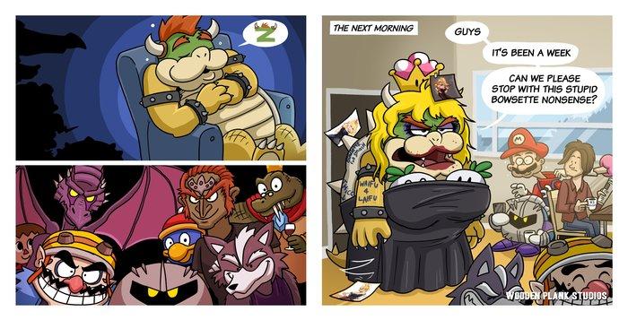 Evil Memes (Everyone is Home) Комиксы, Super smash bros, Bowser, Bowsette, Юмор
