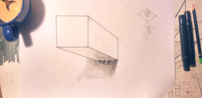 3д рисунок. Куб. Как научиться рисовать? Кривая Линия, 3D рисунок, Видео, Длиннопост