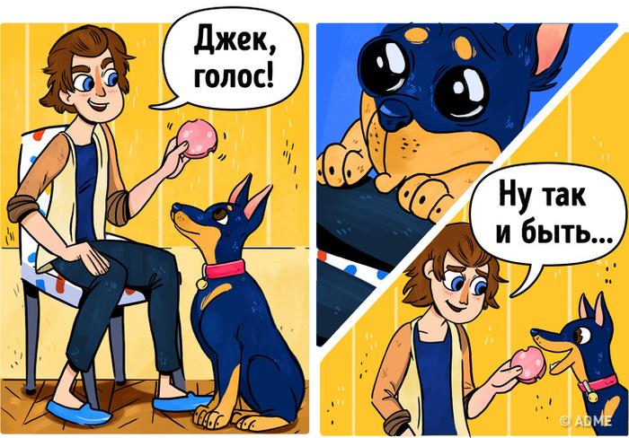 Все собачники грешат этим Комиксы, Собаки и люди, Дрессировка, Мелочи жизни, Длиннопост, Собака