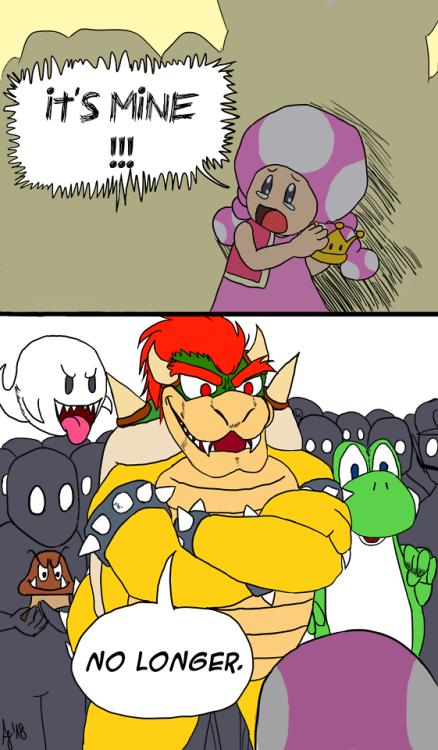 А интернет сказал что корона общая Bowsette, Супер корона, Марио, Bowser, Toadette