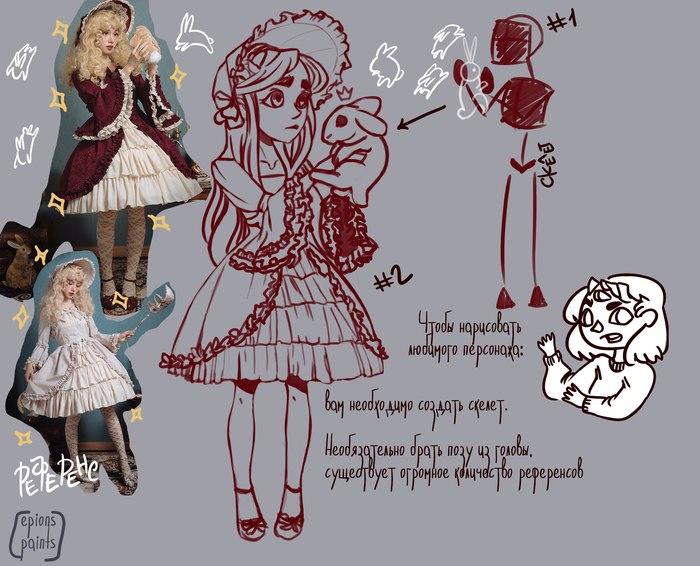 ... дорисовываем сову. Инструкция, Avas Demon, Длиннопост, Рисунок, Цифровой рисунок, Туториал, Персонажи, Девочка