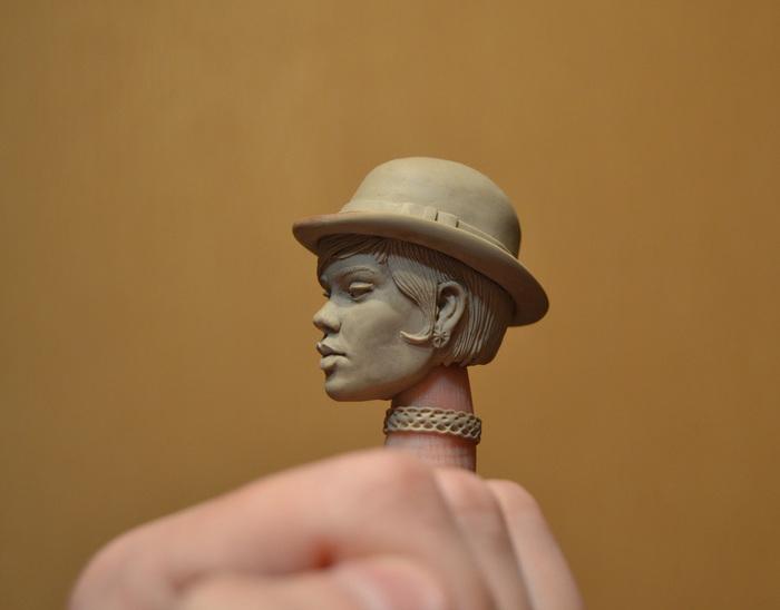 Пара слепленных голов. Моё, Скульптура, Полимерная глина, Ручная работа, Alien covenant, Rihanna, Длиннопост