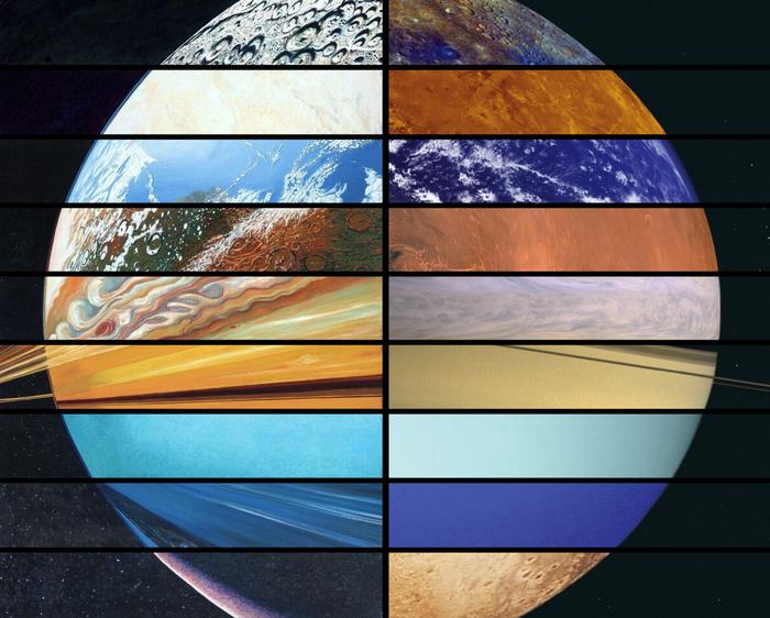 Искусство и наука Космос, Планета, Рисунок, Фотография, Коллаж, Солнечная система