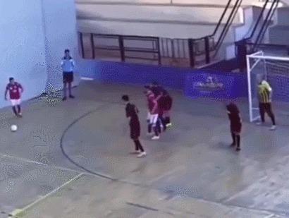 Стена! Спорт, Футбол, Мини-Футбол, Вратарь, Сейв, Стена, Гифка
