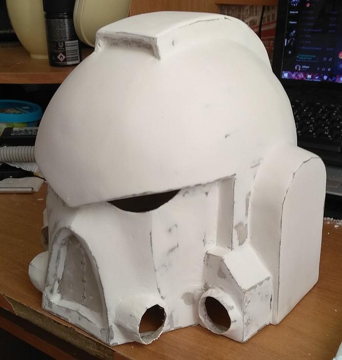 Papercraft, шлем космоморяка своими руками Warhammer 40k, Papercraft, Криворукость, Длиннопост