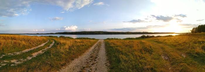 Вот такие просторы у нас в Тульской области.Пос.Бураково, Ясногорский р-н.Река Осетр