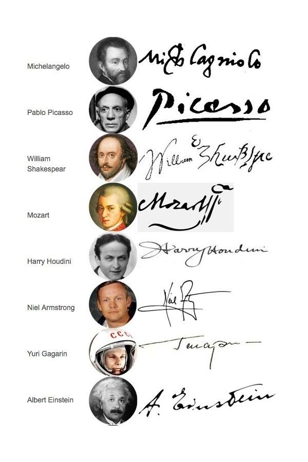 Автографы знаменитых людей Подпись, Автограф, Знаменитости, Длиннопост