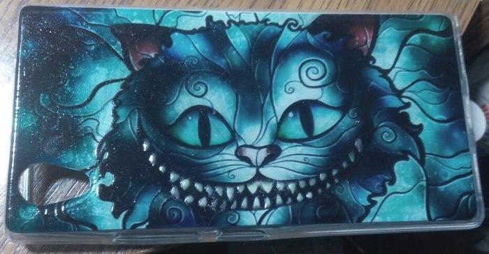 We are all mad here Чеширский кот, Люминофор, Чехол для телефона, Светится в темноте
