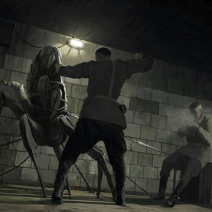 Кровавая Гэбня за работой Кровавая гэбня, Рисунок, Служба депортации инопланетян, Юмор, НКВД