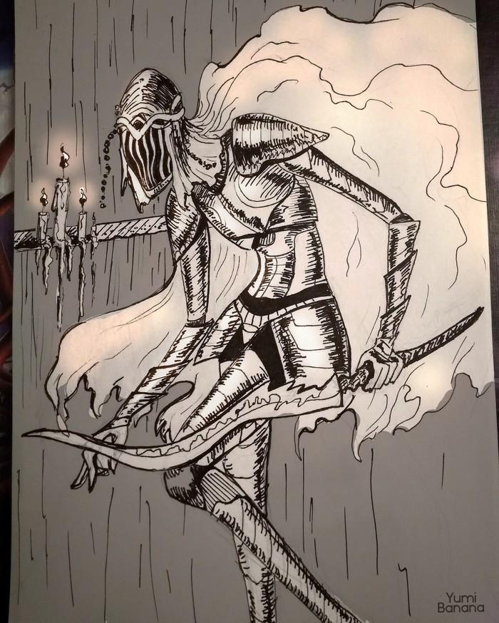 Измученный Арт, Фан-Арт, Традиционный арт, Dark Souls 3, Dark Souls, Dancer of the Boreal Valley, Inktober, Inktober2018
