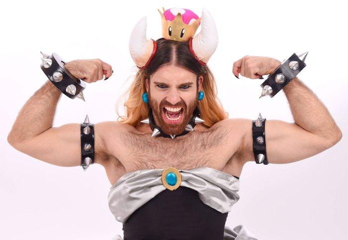 The call was made, and Ladybeard has an answer.... BOWSETTE!! Ladybeard, Ричард Магари, Richard Magarey, Косплей, Марио, Bowsette, Instagram, Длиннопост