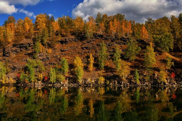 Осенний Иткуль Осень, Челябинская область, Иткуль, Южный Урал, Длиннопост
