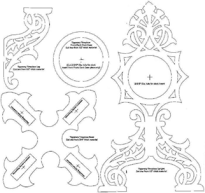 Настольные часы из сосны Лобзик, Выпиливание, Сосна, Часы, Своими руками, Woodworking, Ручная работа, Видео, Длиннопост