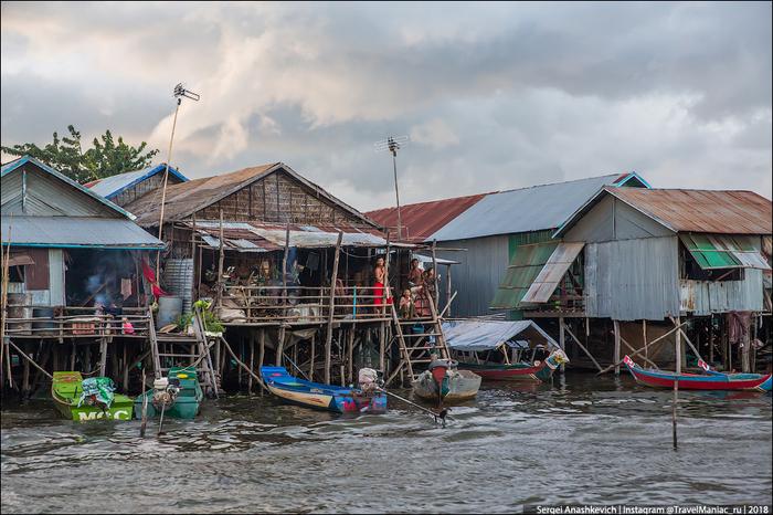 Смогли бы так жить? Плавучие деревни Камбоджи. Камбоджа, Вода, Длиннопост