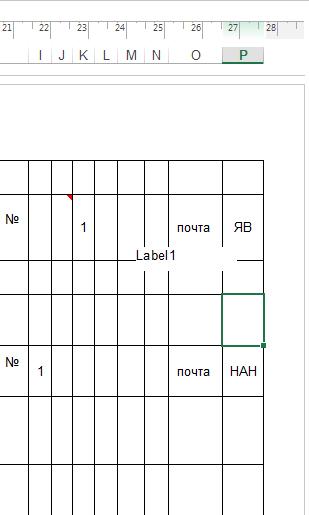 Появилась надпись label1 в excel Excel, Помощь, Без рейтинга, Label1