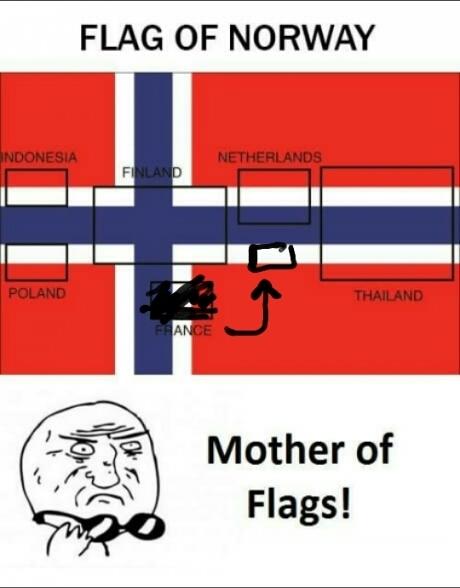 Флаг Норвегии - отец флагов!
