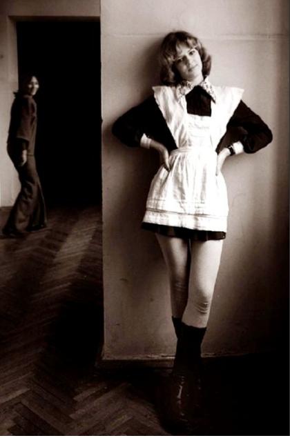 Выпускница походу Старое фото, Школа, Девушки, Photoshop, Белые колготки