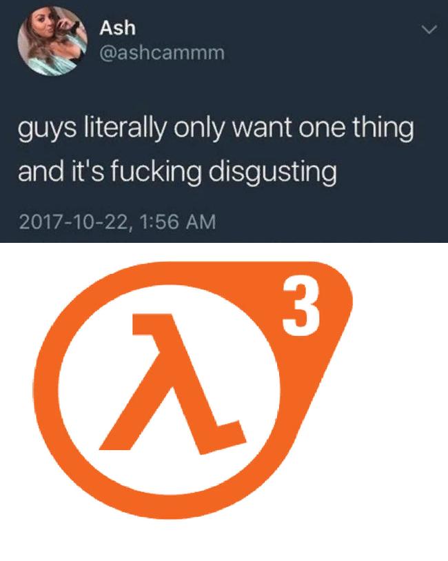 Только одно на уме Half-Life 3, Фотография