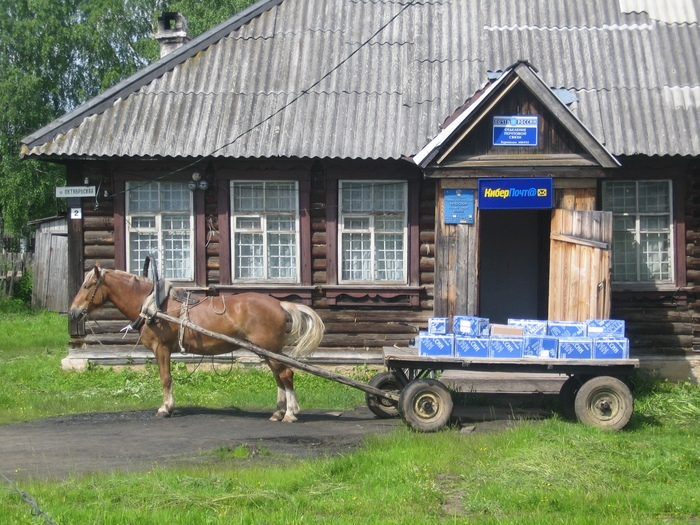 Киберпочта Почта России, Киберпанк, Лошади, Поселок