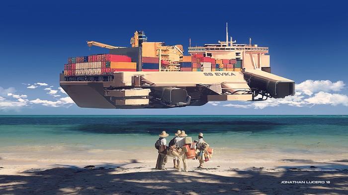 Cargo Арт, Рисунок, Корабль