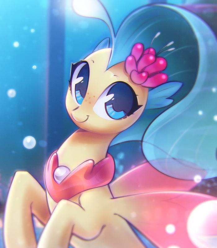 Скайстар My Little Pony, My Little Pony: The Movie, Princess skystar, Ponyart, Mirroredsea