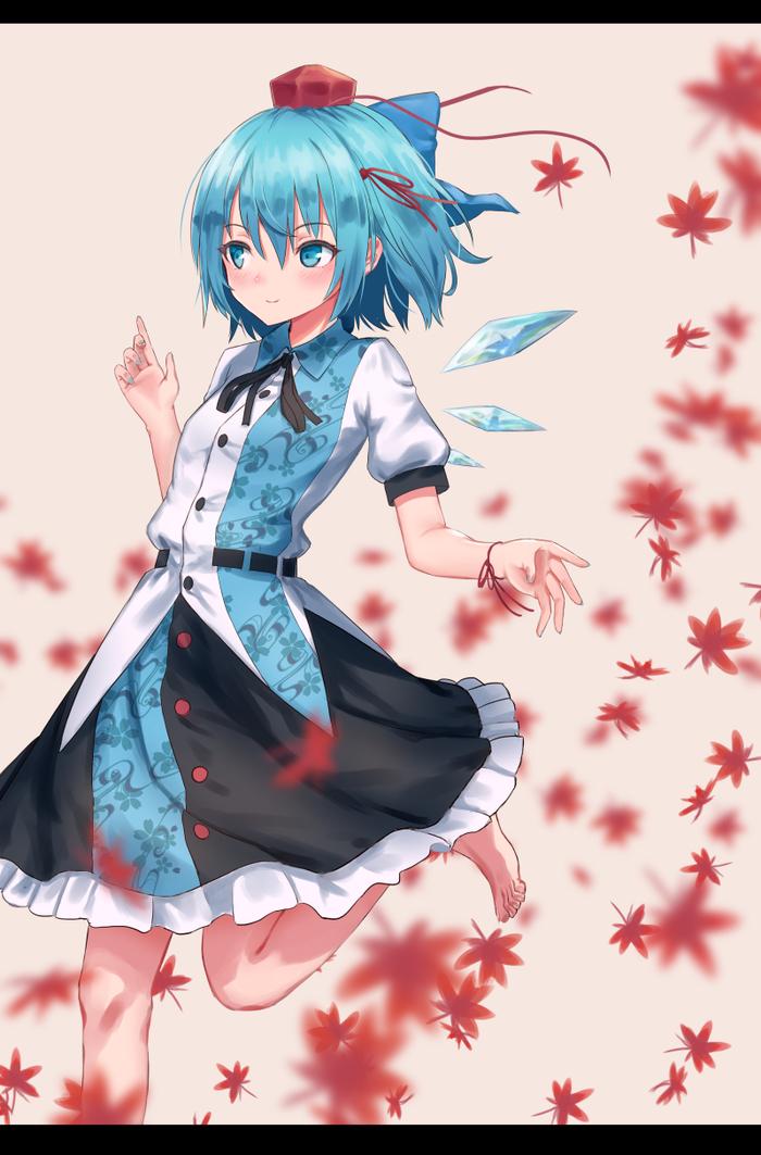 Cirno Touhou, Anime Art, Аниме, Не аниме, Cirno, Roke