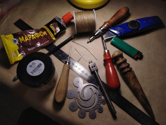 Работа с кожей. Процесс создания изделия, часть вторая. Кожа, Рукоделие с процессом, Ручная работа, Длиннопост