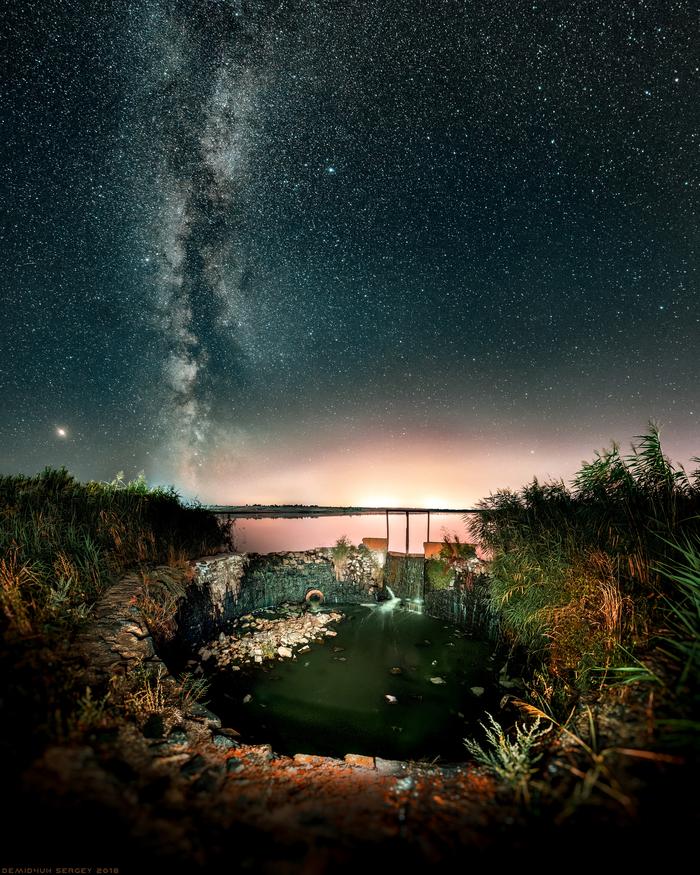 Млечный путь над Красинским водохранилищем. Nikon D610   Samyang 14mm