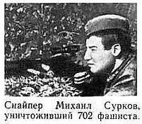 Михаил Сурков— 702 солдата и офицера противника Снайперы, Великая Отечественная война, Герои, Новости