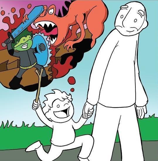 Мечты Комиксы, Lunarbaboon, Дети, Мечта, Взрослые