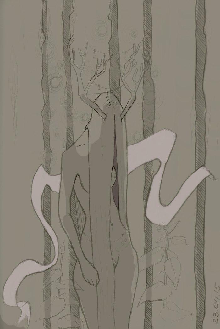 Танатос. Цифровой рисунок. Стикер. Смерть, Арт, Танатос, Наклейка, Стикеры, Божество, Цифровой рисунок, Рисунок, Длиннопост