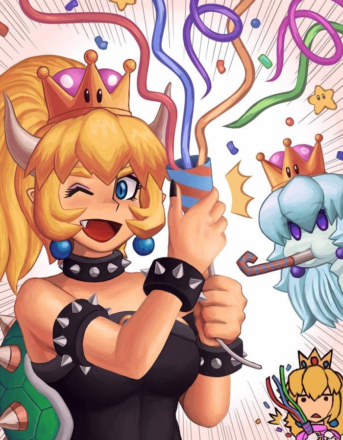 10K images of Bowsette Ayyk92, Bowsette, Boosette, Супер корона, Марио, Игры, Арт, Длиннопост