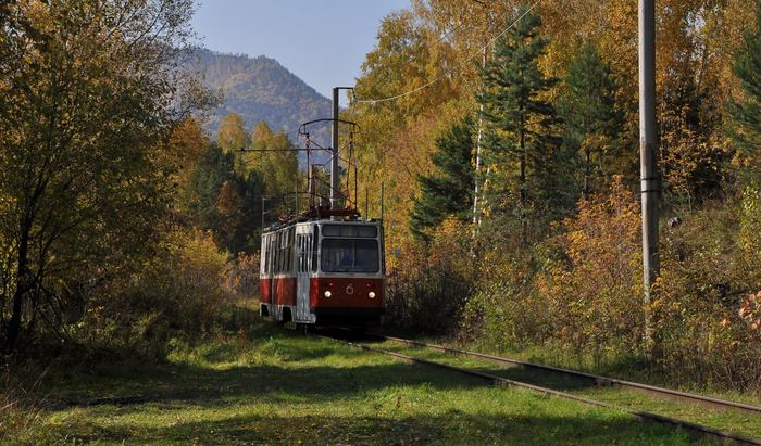 Лесной трамвай Трамвай, Саяны, Хакасия, Саяно-Шушенская ГЭС, Осень, РусГидро, Длиннопост